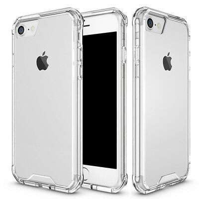 For iPhone 7 7 Plus Hybrid Slim Clear Hard Case Shockproof Soft TPU Bumper Cover