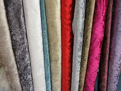 """""""Bling"""" Heavy Crushed Velvet Furniture Fabric Curtain Upholstery Cushions SOFA"""