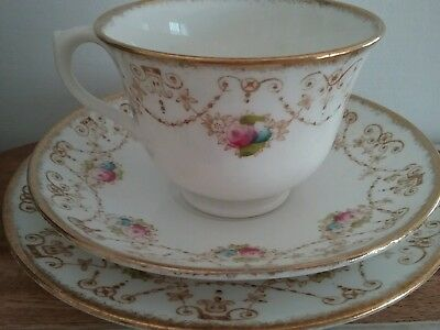 Royal Albert floral trio antique crown china 3117