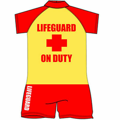 NEW BOYS ALL IN ONE SUN SAFE LIFEGUARD ON DUTY SWIMSUIT AGES: 1 up to 5 YEARS