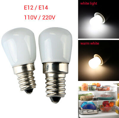 110/220V E14/E12/E27 2W LED Indoor Refrigerator Fridge Freezer Lamp Light Bulb
