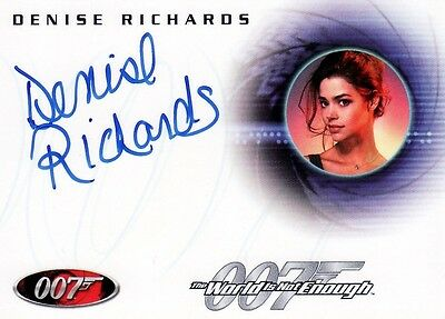 James Bond in Motion Rare Denise Richards as Dr Christmas Jones A69 Auto Card