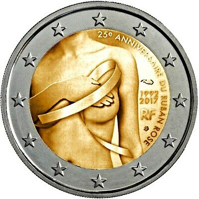 2 Euro France 2017 Breast Cancer - UNC        (Vorverkauf / Pre sales)