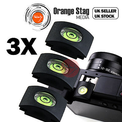 3x Flash Hot Shoe Cover Cap Bubble Spirit Level For Canon Nikon Olympus Camera