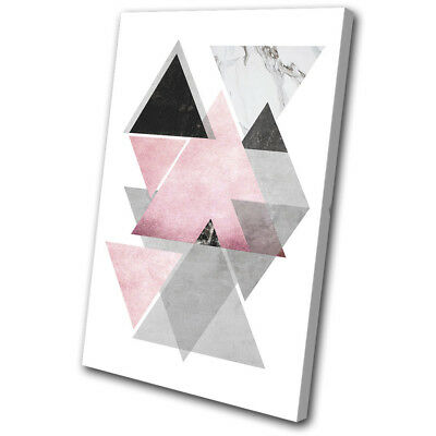 Geometric Office Modern Abstract SINGLE CANVAS WALL ART Picture Print