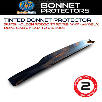 Tinted Bonnet Protector For Holden Rodeo TF R7/R9 MY01 - MY02LX Dual Cab Jan 199