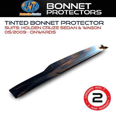 Tinted Bonnet Protector For Holden Cruze Sedan & Wagon May 2009 On >