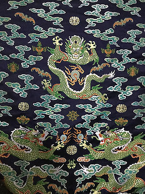2.6 metres long chinese Dragon robe silk brocade fabric Chinoiserie decor !NEW!