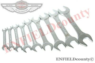 New Whitworth Open Wrench Tool Chrome Double Open End Jaw Spanner 9 Units @usd