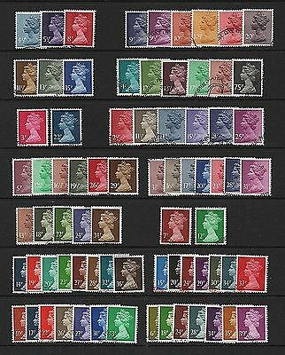 GB Stamps Machin Definitives - Fine used (Multiple listing)