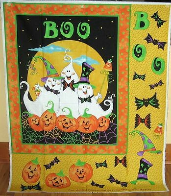 Boo Buddies Halloween New Cotton Wall Hanging/quilt Panel