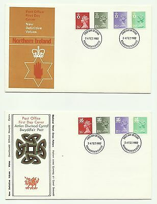 GB  1982  Regionals Machin Definitives on 3 unaddressed First Day Covers