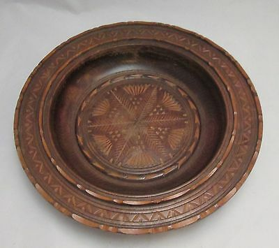 A Hand Carved Wooden Bowl - Ornate Piece