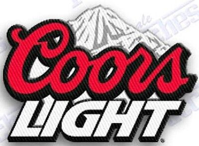 COORS LIGHT Beer  iron on embroidered patch 2.2 X 1.8  SILVER BULLET BREW rocky