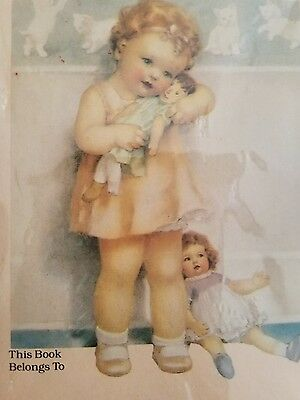 BOOKPLATES BY ANTIOCH PLUBLISHING COMPANY~VTG BOX 20 Baby Girl with Dolly