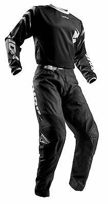 THOR MX Motocross Men's 2018 SECTOR ZONES Jersey/Pants Kit (Black) Choose Size