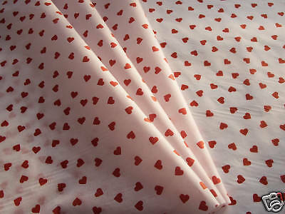 10 sheets red love hearts white tissue paper romantic