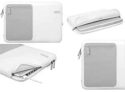 "New Genuine Incase Fully lined Deluxe MacBook Pro 13"" Sleeve Pouch Cover - White"