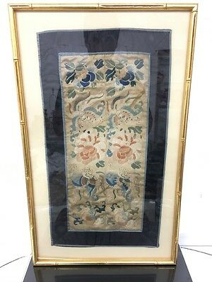 Gorgeous Antique Chinese Silk Sleeve Bands Textile Embroidery Satin Stitch