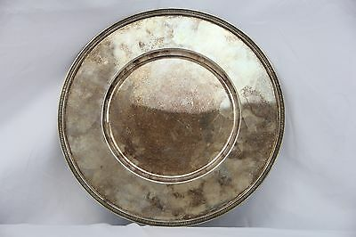 Simple yet Elegant Antique 19th Century Sterling Silver Charger by Christofle