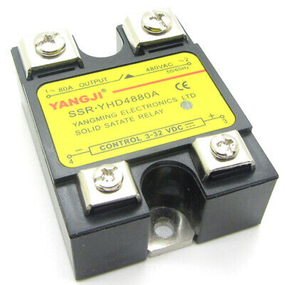 Solid State Relay SSR DC3-32V Control AC24-480V DC to AC Single Phase 10A - 120A