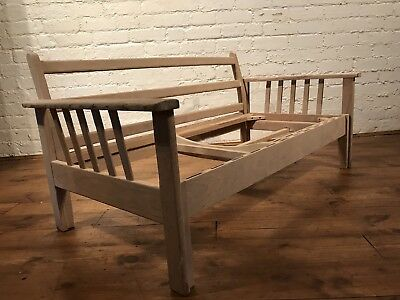 Vtg Mid Century Habitat Sofa Bed Settee Retro Frame Only For Restoration
