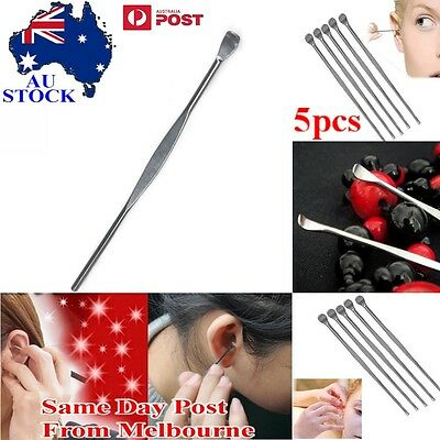 AU Ear Pick Stainless Steel Ear Wax Cleaner Remover Tool Health