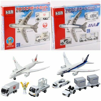 Japan Tomica Limited Jumbo 787 Airport Diecast Plane & Plakids Gift Set Ana/jal