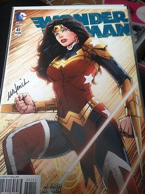 DC Wonder Woman #41 1st Print Signed By Meredith Finch