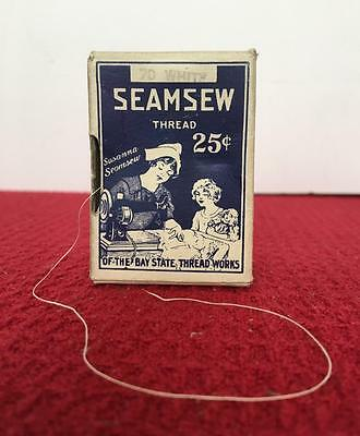 Antique Seamsew Cotton Thread Box Bay State Thread Works