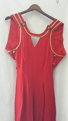 VINTAGE RARE BB COLLECTIONS AVANT-GARDE JUMPSUIT Red with gold accents