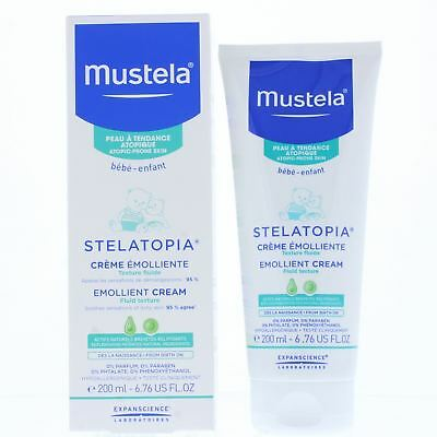 Mustela Stelatopia Emollient Cream 200ml Fluid Texture - Atopic-Prone Skin