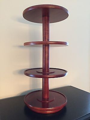 "23 1/2 "" Tall Solid Wood 4 Tier Lazy Susan Display"