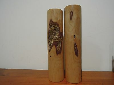 Stunning Hand Made Wooden Salt Pepper Shakers