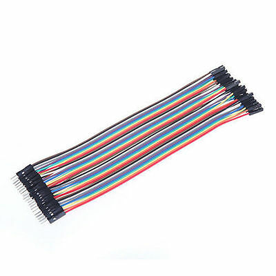40pcs×20cm Male to Female Wire Jumper Cables for Arduino