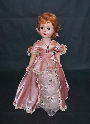 "SALE 1952 American Character Sweet Sue Doll 18"" Hard Plastic Walker COTILLION"