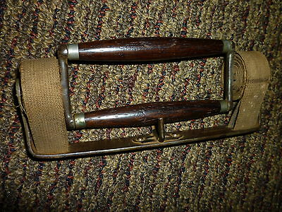 Antique Victorian 1800's BOOK CARRIER ROSEWOOD