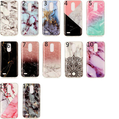 Granite Marble Texture Pattern Phone Cases Soft TPU Case for LG K4 K8 K10