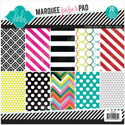 "Heidi Swapp Single Sided  Paper Pad 8.5""X8.5"" 30/Pkg Marquee Love, 10 Designs/3"