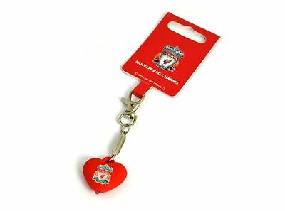 Liverpool FC Official Crested Heart Charm Bag Keyring With Orange Led Tourch