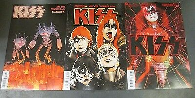 3x KISS 10; A STRAHM B BAAL C PHOTO VARIANT KISS Dynamite Comics Gene Simmons