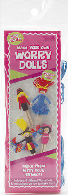 Make Your Own Worry Dolls Kit   Makes 4 Cheerleader 46778