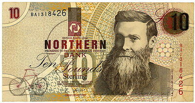 SCARCE Ireland - Northern Bank 1997 10 Pound Note Lightly Circulated - LOOK