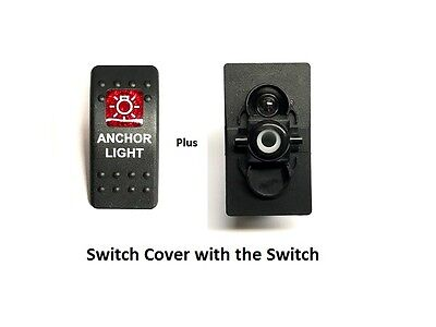 Single Carling Boat Rocker Switch CoverAnchor Black Illuminated