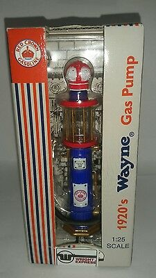 1920s Wayne Replica Gas Pump 1:25 scale Red Crown Gasoline 5 inches tall New