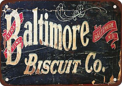 """9"""" x 12"""" Metal Sign - Baltimore Biscuit Co. - Vintage Look Reproduction"""