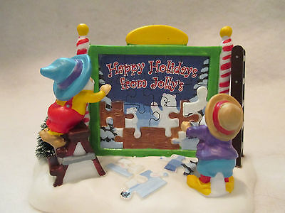 """Dept 56 North Pole Series """"A Puzzling Sign""""  #56 799952"""