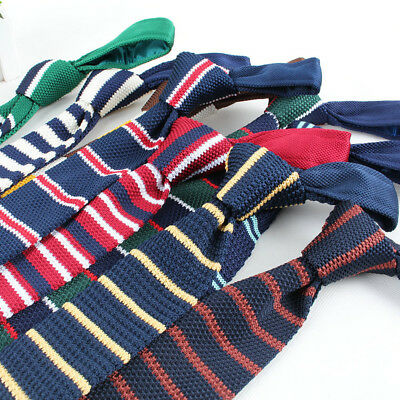 85 Styles Men's Knitted Striped Skinny Tie Casual Woven Necktie For School Party