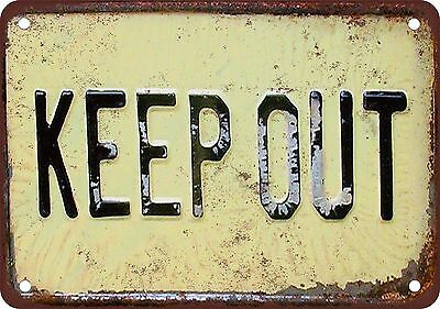 """9"""" x 12"""" Metal Sign - Keep Out - Vintage Look Reproduction"""