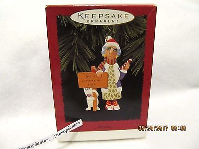 Hallmark Christmas Ornament 1996 Maxine Shoebox Greetings Old Lady Dog